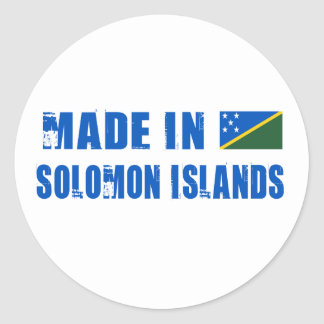 Made in Solomon Islands Classic Round Sticker