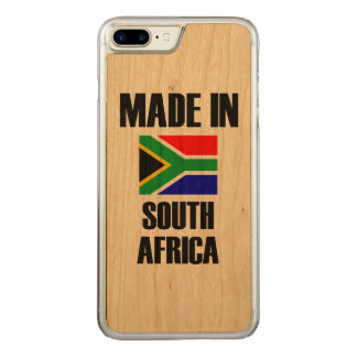 Made In South Africa Flag Carved iPhone 7 Plus Case