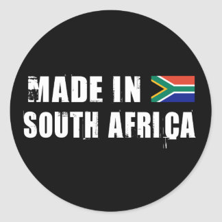 Made in South Africa Round Sticker
