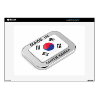 """Made in South Korea 15"""" Laptop Decal"""