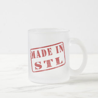 Made in STL Frosted Glass Coffee Mug