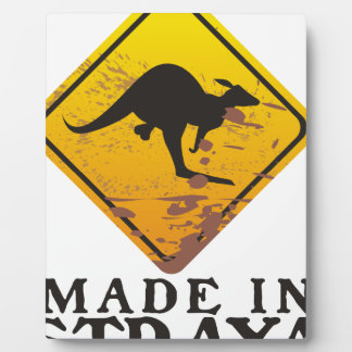Made in 'Straya (Australia) Kangaroo with Balls Plaque