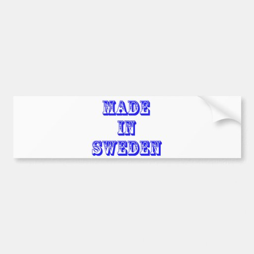 made in sweden bumper sticker