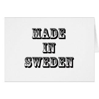 made in sweden card
