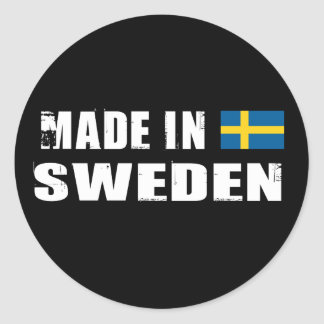 Made in Sweden Classic Round Sticker