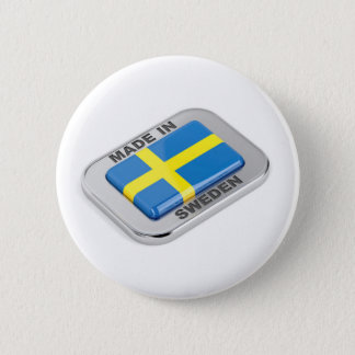 Made in Sweden Pinback Button