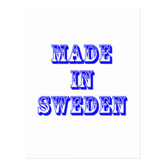 made in sweden postcard