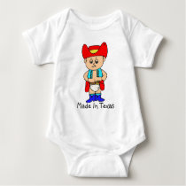 """Made In Texas"" Adorable Cowboy Baby Tee/Creeper Baby Bodysuit"