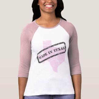 Made in Texas Grunge Ladies Pink Raglan T-shirt