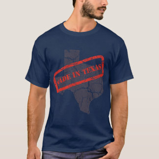 Made in Texas Grunge Mens Navy Blue T-shirt