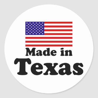 Made in Texas Round Stickers