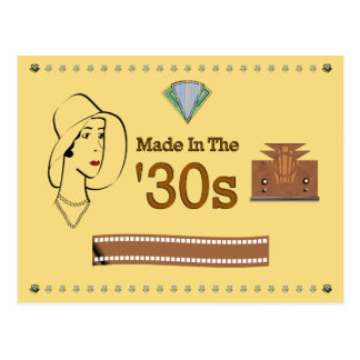 Made In The 30s Postcard
