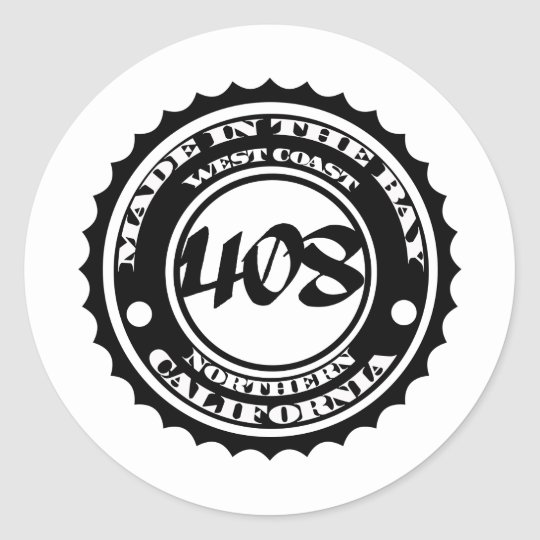 Made in the 408 classic round sticker