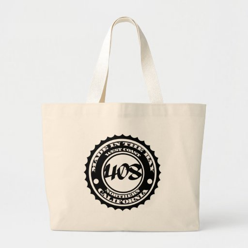 Made in the 408 jumbo tote bag