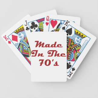 Made In The 70's Bicycle Playing Cards
