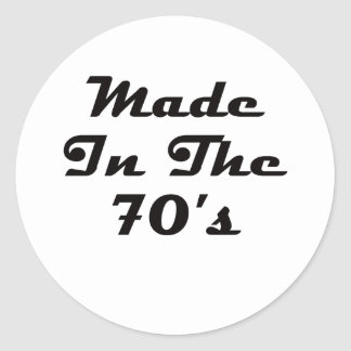 Made In The 70's Classic Round Sticker