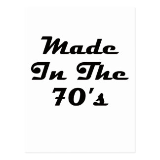 Made In The 70's Postcard