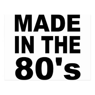 Made in the 80s - Birthday Postcard