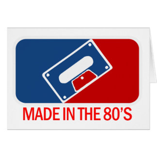 Made in the 80s card