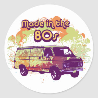 Made in the 80s classic round sticker