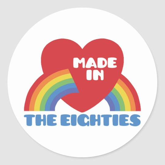 Made in the 80's classic round sticker