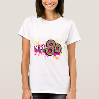 """""""Made in the 80's"""" ladies multi-pink logo tee"""