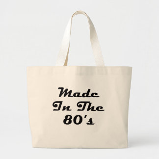 Made In The 80's Large Tote Bag