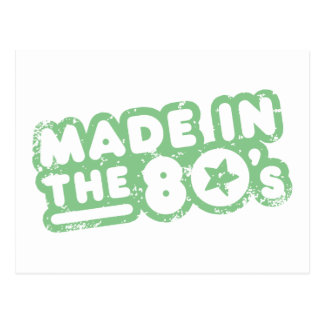 Made In The 80's Postcard