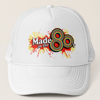Made in the 80's red splat hat