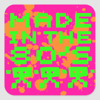 Made In The 80's Stickers