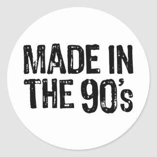 Made in the 90's classic round sticker