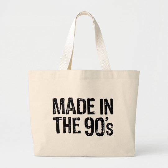 Made in the 90's large tote bag