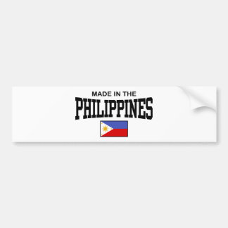 Made In The Philippines Bumper Sticker
