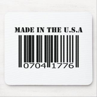 Made in the U.S.A barcode Mouse Pad