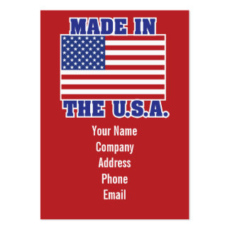 Made in the U.S.A. Large Business Cards (Pack Of 100)
