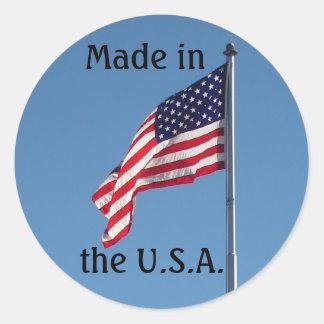 Made in the U.S.A. Classic Round Sticker