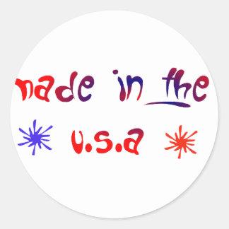 Made in the U.S.A Classic Round Sticker