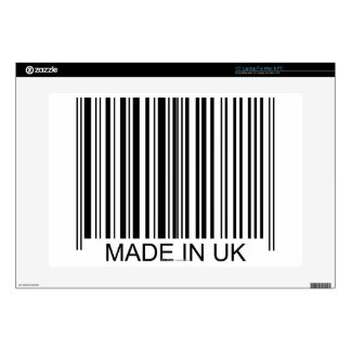 """Made in the UK Skin For 15"""" Laptop"""