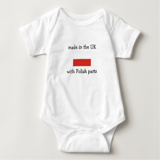 made in the UK with Polish parts Baby Bodysuit