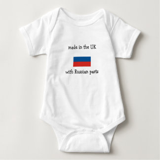 made in the UK with Russian parts Baby Bodysuit