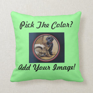 Made In The USA 100% Cotton Machine Washable Throw Pillow