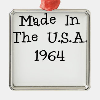 Made in the usa 1964.png christmas tree ornament