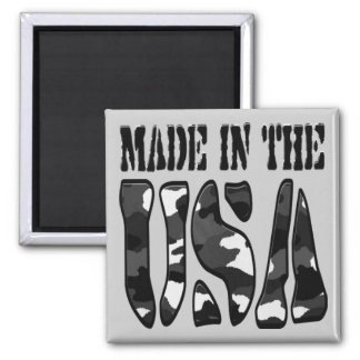 Made in the USA 2 Inch Square Magnet