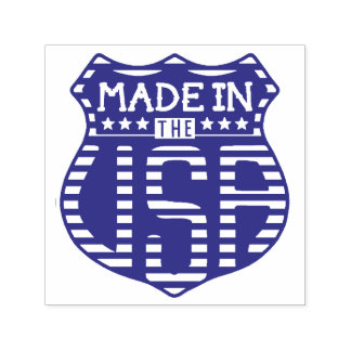 Made in the USA 4th of July Proud American Logo Self-inking Stamp