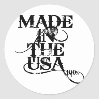 Made In The USA Accessory Classic Round Sticker