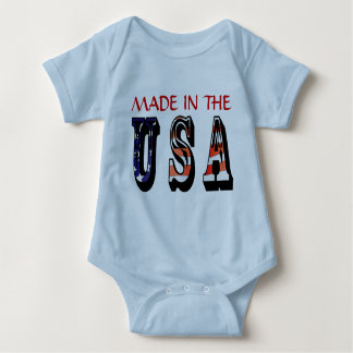 Made In The USA American T-shirt Onsies