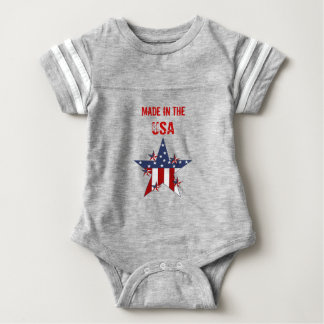Made In The USA Baby Kids Patriot Stars Baby Bodysuit