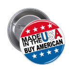 Made in the USA - Buy American 2 Inch Round Button