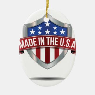 Made in the usa ceramic ornament