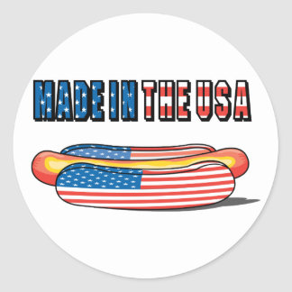 Made In The USA Classic Round Sticker